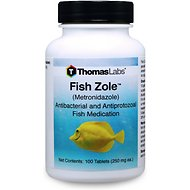 Thomas Labs Fish Zole Metronidazole Antibacterial Fish Medication, 100-count