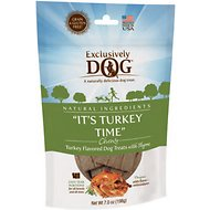 Exclusively Dog It's Turkey Time Dog Treats, 7-oz bag