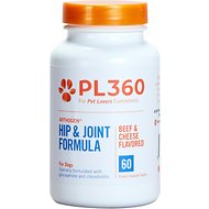 PL360 Arthogen Hip & Joint Dog Supplement, Beef & Cheese Flavor, 60 count