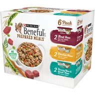 Purina Beneful Prepared Meals Variety Pack Wet Dog Food, 10-oz, case of 6