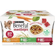 Purina Beneful Medleys Tuscan, Romana & Mediterranean Style Variety Pack Canned Dog Food, 3-oz, case of 27
