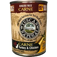 Tuscan Natural Carne Grain-Free Turkey & Chicken Canned Dog Food, 13-oz, case of 12