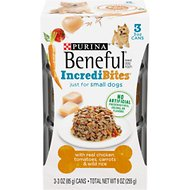 Purina Beneful IncrediBites With Chicken, Tomatoes, Carrots & Wild Rice Canned Dog Food, 3-oz, case of 24