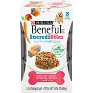 Purina Beneful IncrediBites With Salmon, Tomatoes, Carrots & Wild Rice Canned Dog Food, 3-oz, case of 24
