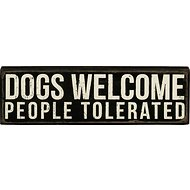 "Primitives By Kathy ""Dogs Welcome"" Box Sign"
