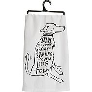 "Primitives By Kathy ""Only Speaking to My Dog"" Dish Towel"