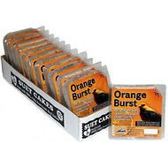 Heath Orange Burst Select Suet Cake Bird Food, 11.25-oz, case of 12