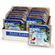 Heath Fancy Blend Songbird Suet Cake Bird Food, 9.25-oz, case of 16