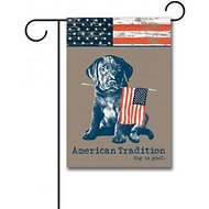 "Dog is Good ""American Tradition"" Garden Flag"