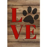 Gateway Lane Love Paw Print Garden Flag