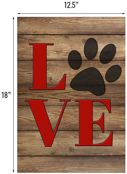 Gateway Lane Love Paw Print Garden Flag - Chewy.com