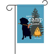 "Dog is Good ""Never Camp Alone"" Garden Flag"