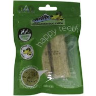 Himalayan Dog Chew Happy Teeth Himalayan Cheese Flavor Dental Dog Treat, 2 piece, Small