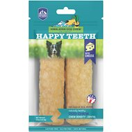 Himalayan Dog Chew Happy Teeth Himalayan Cheese Flavor Dental Dog Treat, 2 piece, Large