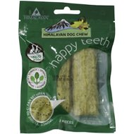 Himalayan Dog Chew Happy Teeth Spinach Flavor Dental Dog Treat, 2 piece, Small