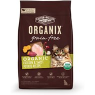 Castor & Pollux Organix Grain-Free Organic Chicken & Sweet Potato Recipe Dry Cat Food, 3-lb bag