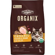 Castor & Pollux Organix Chicken & Brown Rice Recipe Dry Cat Food, 3-lb bag