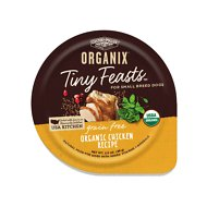 Castor & Pollux Organix Tiny Feasts Grain-Free Organic Chicken Recipe Dog Food Trays, 3.5 oz, case of 12