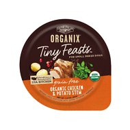 Castor & Pollux Organix Tiny Feasts Grain-Free Organic Chicken & Potato Stew Dog Food Trays, 3.5 oz, case of 12