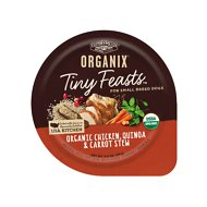 Castor & Pollux Organix Tiny Feasts Organic Chicken, Quinoa & Carrot Stew Dog Food Trays, 3.5 oz, case of 12