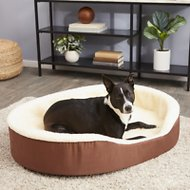 Dog Bed King USA Bolster Dog Bed w/Removable Cover, Brown