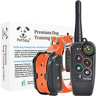 PetSpy M686 Premium Dog Training Collar, Orange