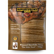Savory Prime Natural Rawhide Twists Dog Treats, 5-inch, 100 count