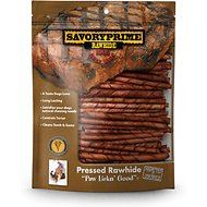 Savory Prime Beef Flavored Rawhide Twists Dog Treats, 5-in, 100 count