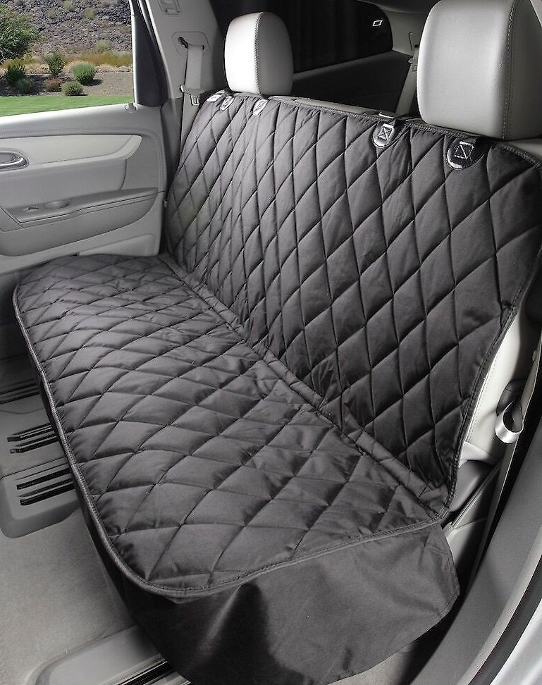 Pet Seat Covers >> 4Knines Rear Fitted Seat Cover, Black - Chewy.com