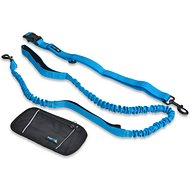Waggin' Tails Smart 3-in-1 Hands Free Dog Leash, Coral Blue, 4-ft