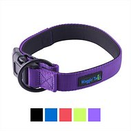 Waggin' Tails Classic Comfort Padded Dog Collar, Vibrant Purple, Large