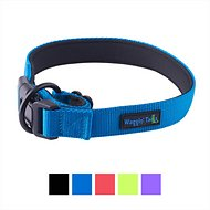 Waggin' Tails Classic Comfort Padded Dog Collar, Bright Blue, X-Large