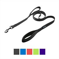 Waggin' Tails Soft & Thick Reflective Double Handle Dog Leash, Black