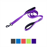 Waggin' Tails Soft & Thick Double Handle Dog Leash, Vibrant Purple