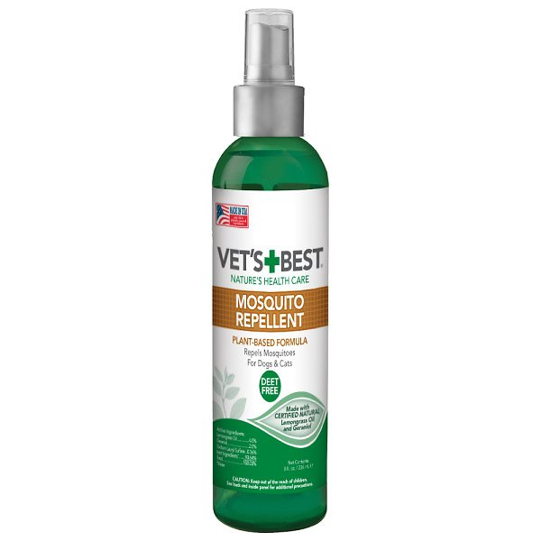 Vet S Best Natural Mosquito Repellent Spray For Dogs Cats 8 Oz