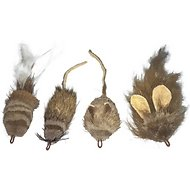 CoolCyberCats Deer Hair Rat Replacement Cat Toy, 4-count