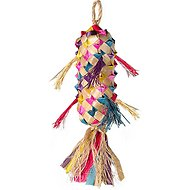 Planet Pleasures Spiked Piñata Natural Bird Toy, Color Varies