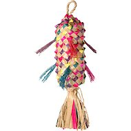 Planet Pleasures Spiked Piñata Natural Bird Toy, Color Varies, Medium