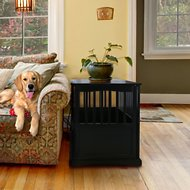 Casual Home End Table Dog Crate, Medium/Large, Black