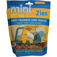 YumZies Mini Peanut Butter Flavor Grain-Free Dog Treats, 5-oz bag