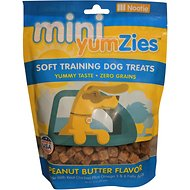 YumZies Mini Peanut Butter Flavor Grain-Free Dog Treats, 10-oz bag