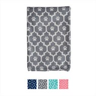 Bone Dry Printed Moroccan Microfiber Dog & Cat Bath Towel, Gray