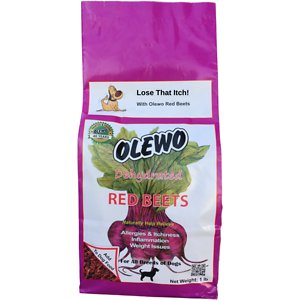 Olewo Itch & Allergy Relief Dehydrated Red Beet Dog Food Topper