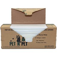 PET N PET Cat Litter Box Jumbo Liners, 7 count