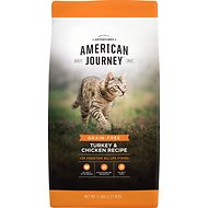 American Journey All Life Stages Turkey & Chicken Recipe Grain-Free Dry Cat Food, 5-lb bag