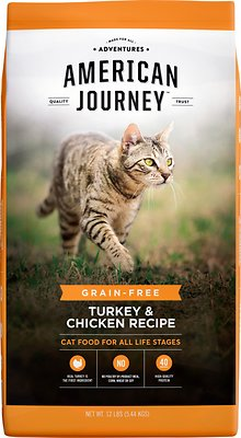 4. American Journey Turkey & Chicken Recipe Grain-Free Dry Cat Food