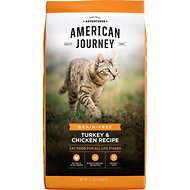 American Journey All Life Stages Turkey & Chicken Recipe Grain-Free Dry Cat Food, 12-lb bag