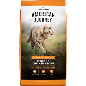 American Journey Grain Free Dry Cat Food Turkey & Chicken Recipe