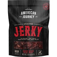 American Journey Beef Jerky Grain-Free Dog Treats, 3.25-oz bag