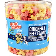 PupCorn Plus Chicken & Beef Flavored Dog Treat, 28-oz tub
